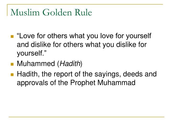 Muslim Golden Rule