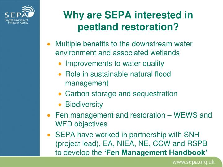 Why are SEPA interested in peatland restoration?
