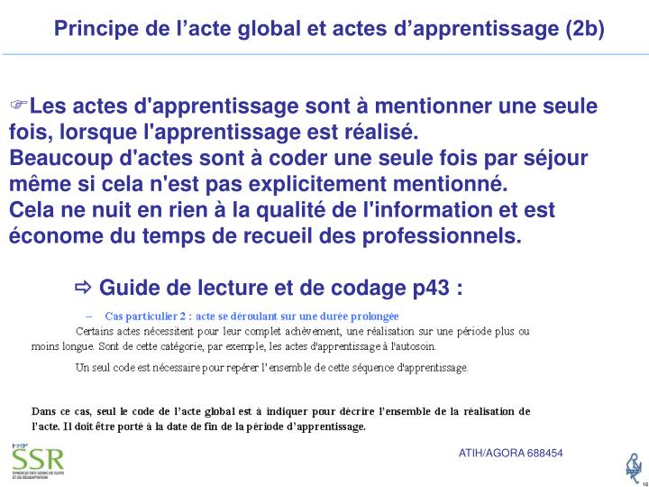 Principe de l'acte global et actes d'apprentissage (2b)