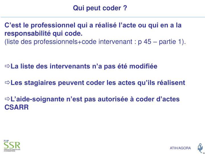 Qui peut coder ?