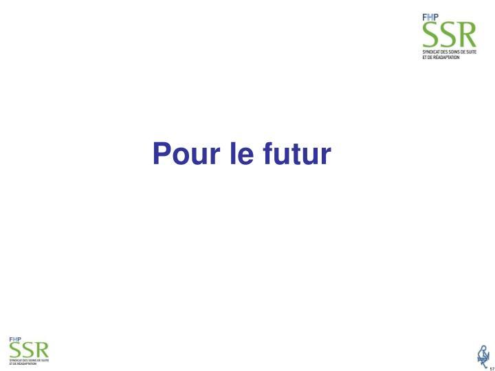 Pour le futur