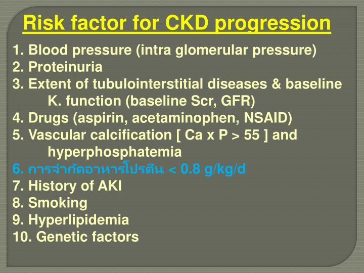 Risk factor for CKD progression