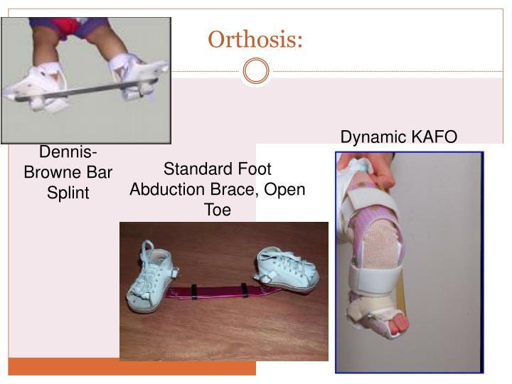 Orthosis:
