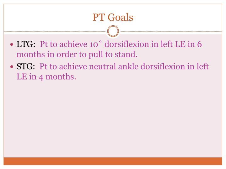 PT Goals