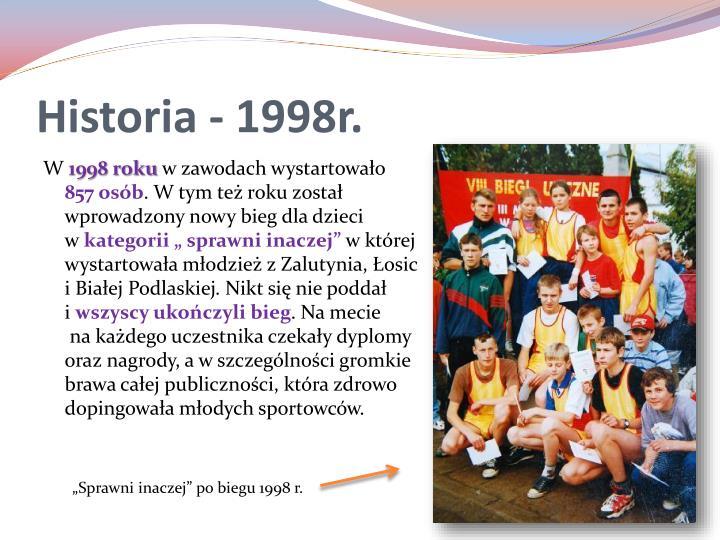 Historia - 1998r.