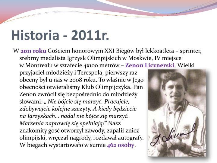 Historia - 2011r.