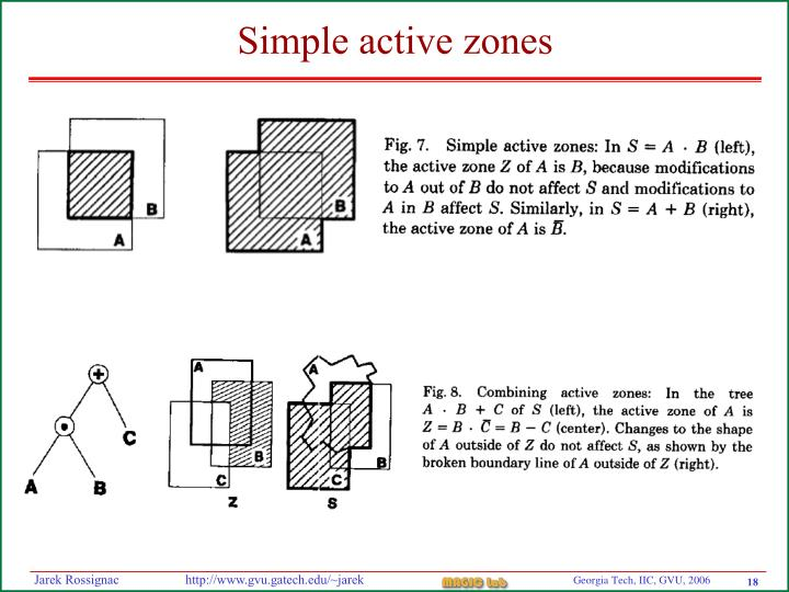 Simple active zones