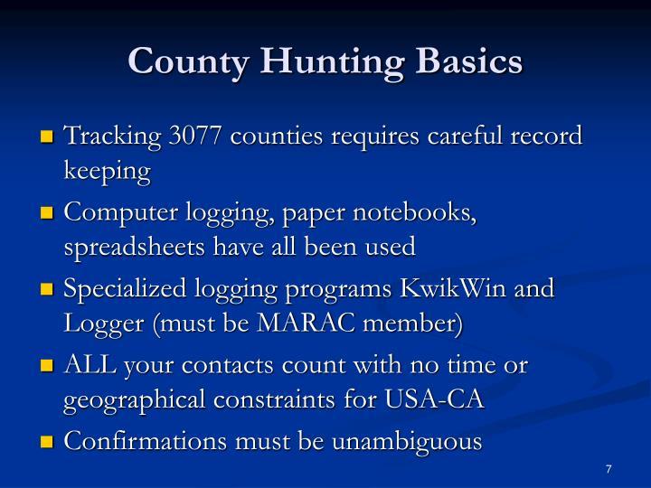 County Hunting Basics