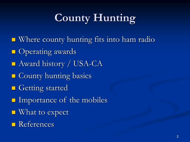 County Hunting