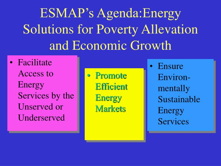 Facilitate Access to Energy Services by the Unserved or Underserved