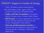 esmap s support to gender in energy