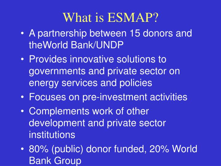 What is esmap