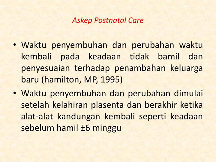 Askep postnatal care1