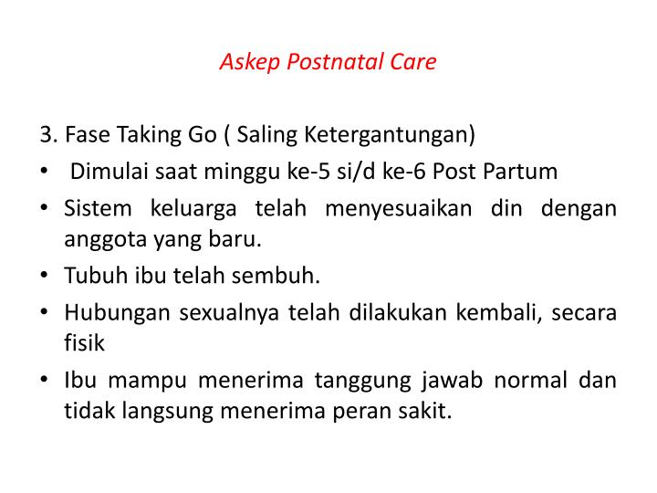 Askep Postnatal Care