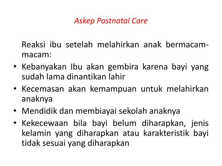 Askep Postnatal Care