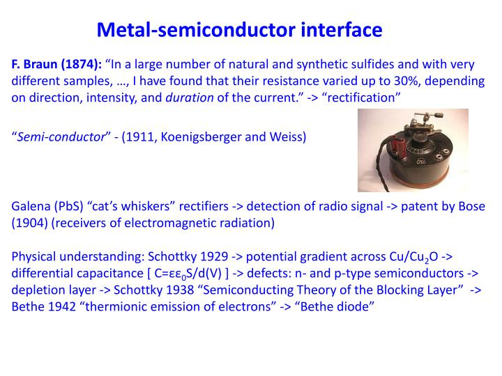 Metal-semiconductor interface