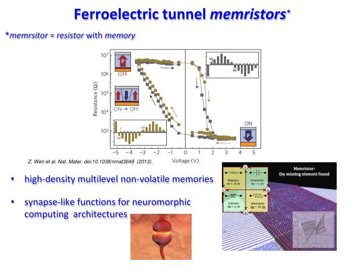 Ferroelectric tunnel