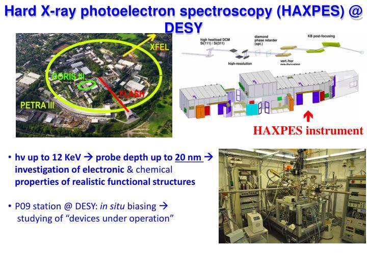 Hard X-ray photoelectron spectroscopy (HAXPES) @ DESY
