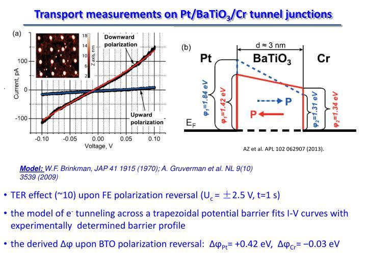 Transport measurements on
