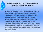 disadvantages of combustion persulphate methods1