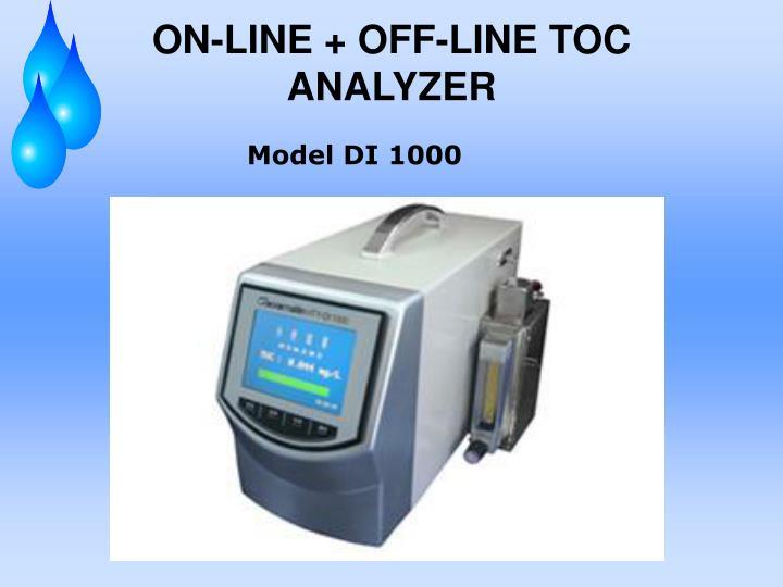 ON-LINE + OFF-LINE TOC ANALYZER