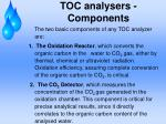 toc analysers components