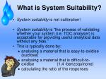 what is system suitability
