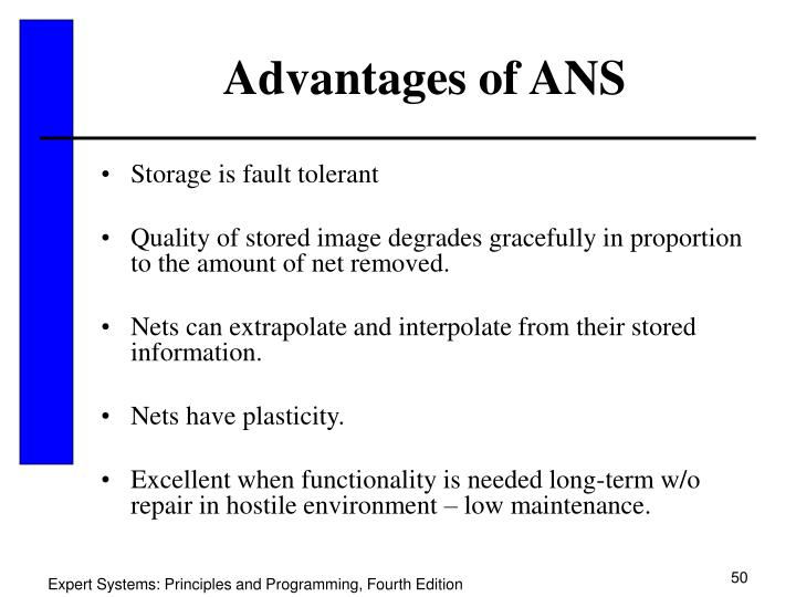 Advantages of ANS