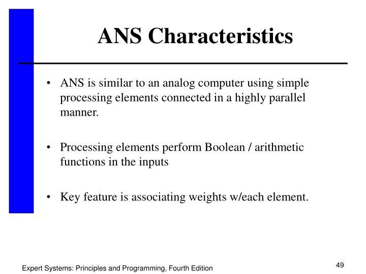 ANS Characteristics