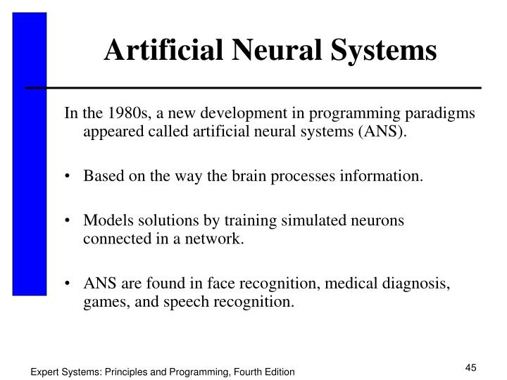 Artificial Neural Systems