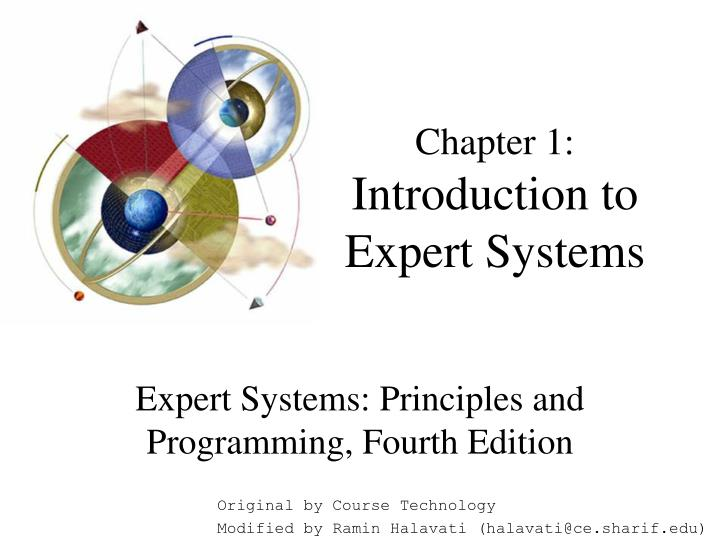 Chapter 1 introduction to expert systems