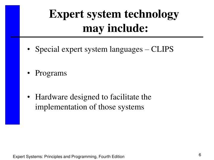 Expert system technology