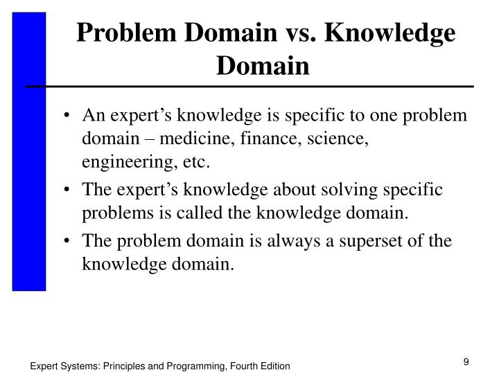 Problem Domain vs. Knowledge Domain