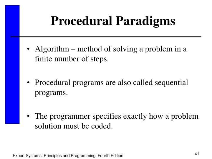 Procedural Paradigms