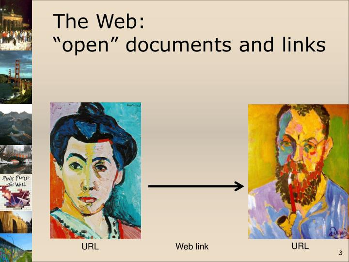 The web open documents and links