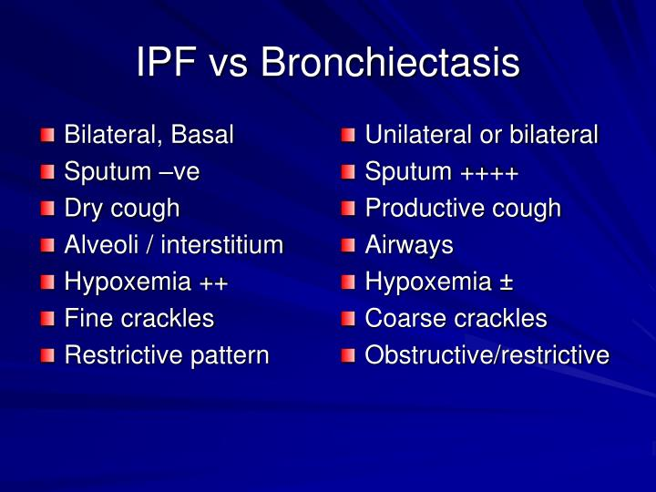 IPF vs Bronchiectasis