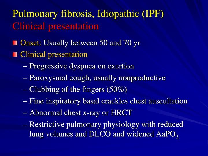 Pulmonary fibrosis, Idiopathic (IPF)