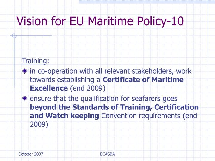 Vision for EU Maritime Policy-10