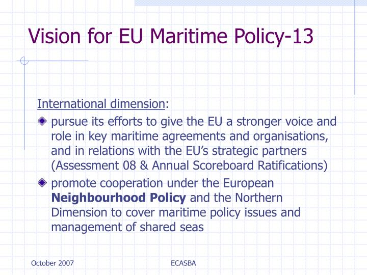 Vision for EU Maritime Policy-13