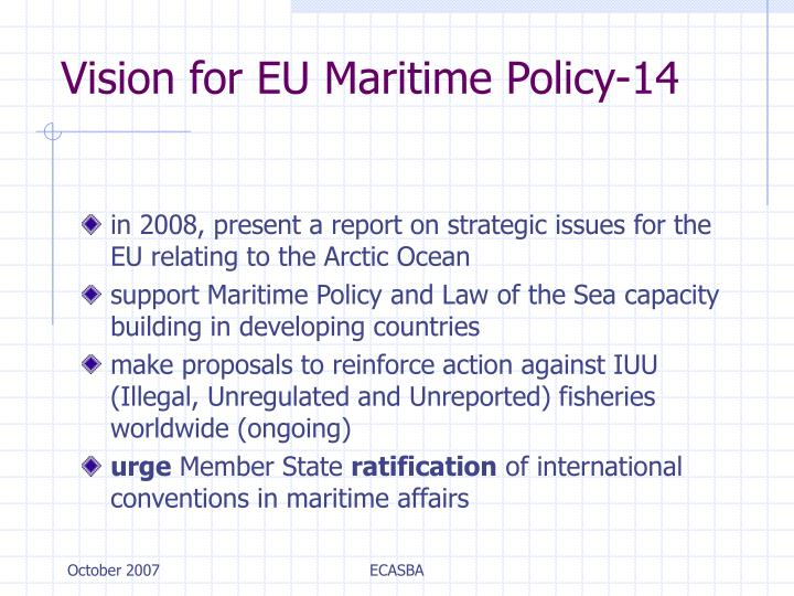 Vision for EU Maritime Policy-14