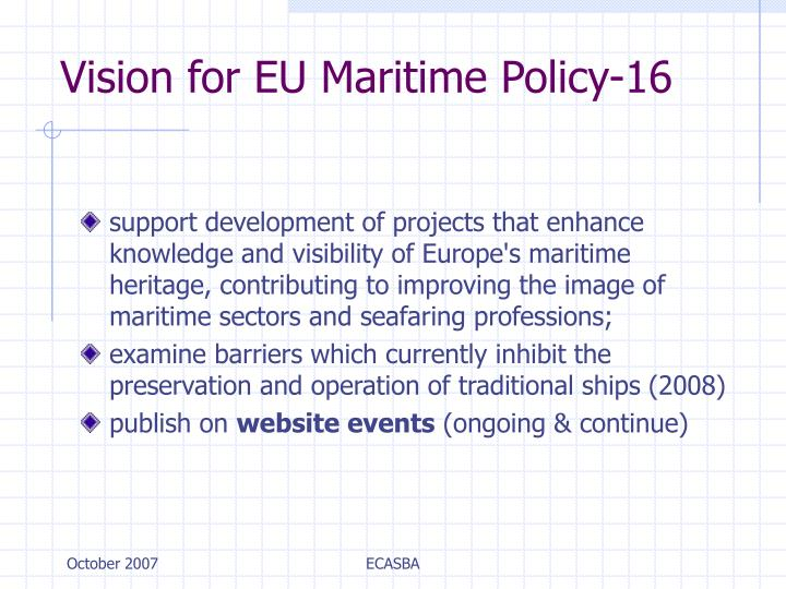Vision for EU Maritime Policy-16