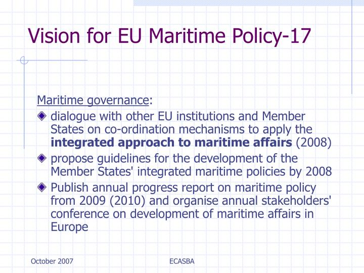 Vision for EU Maritime Policy-17