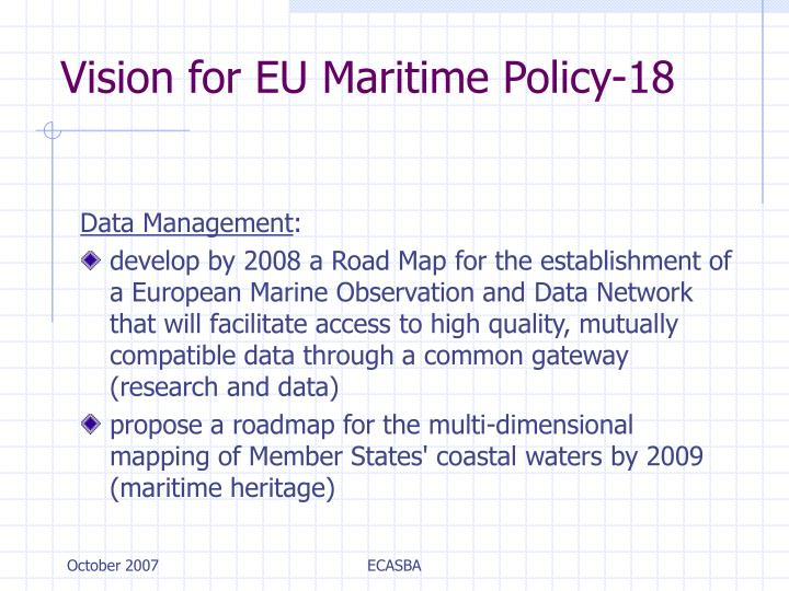 Vision for EU Maritime Policy-18