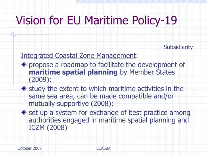 Vision for EU Maritime Policy-19