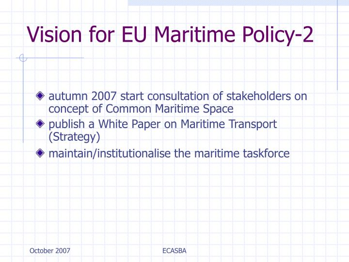 Vision for EU Maritime Policy-2