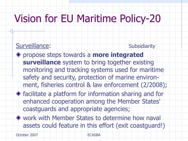 Vision for EU Maritime Policy-20