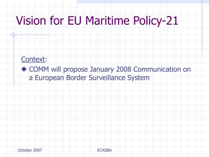 Vision for EU Maritime Policy-21