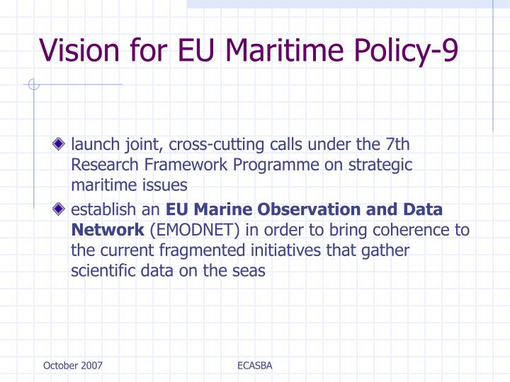 Vision for EU Maritime Policy-9