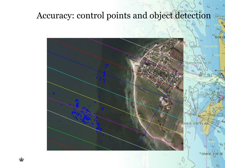 Accuracy: control points and object detection