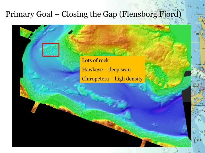 Primary Goal – Closing the Gap (Flensborg Fjord)